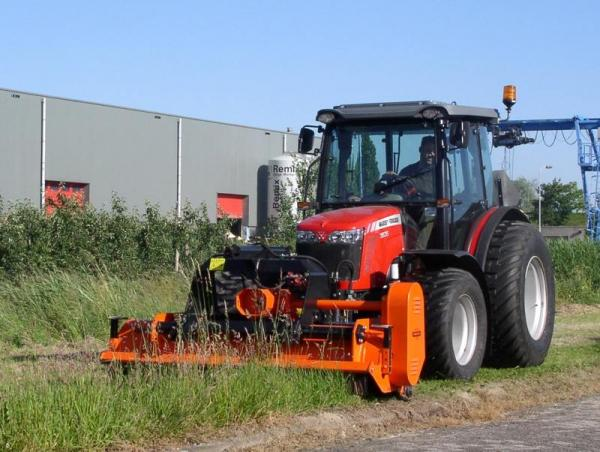 Heavy duty front and rear mounted flail mowers